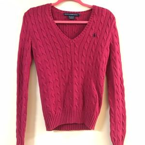 Polo Cable knit vence sweater